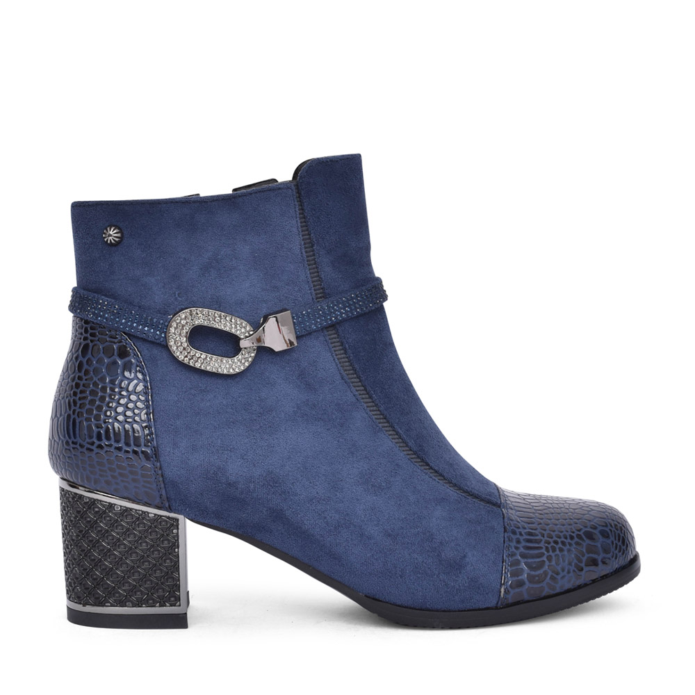 LADIES F1065A ANKLE BOOT in NAVY
