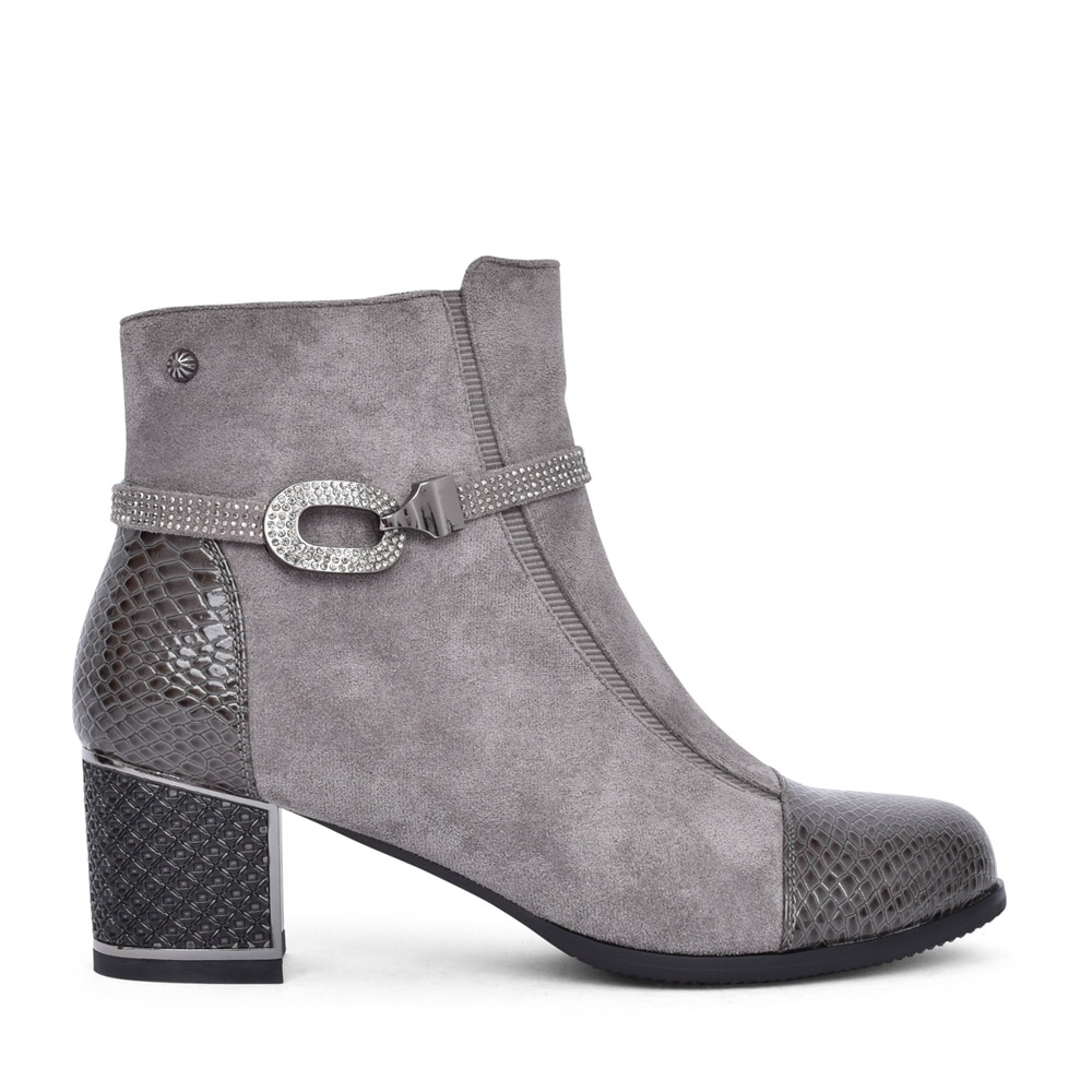 LADIES F1065A ANKLE BOOT in GREY