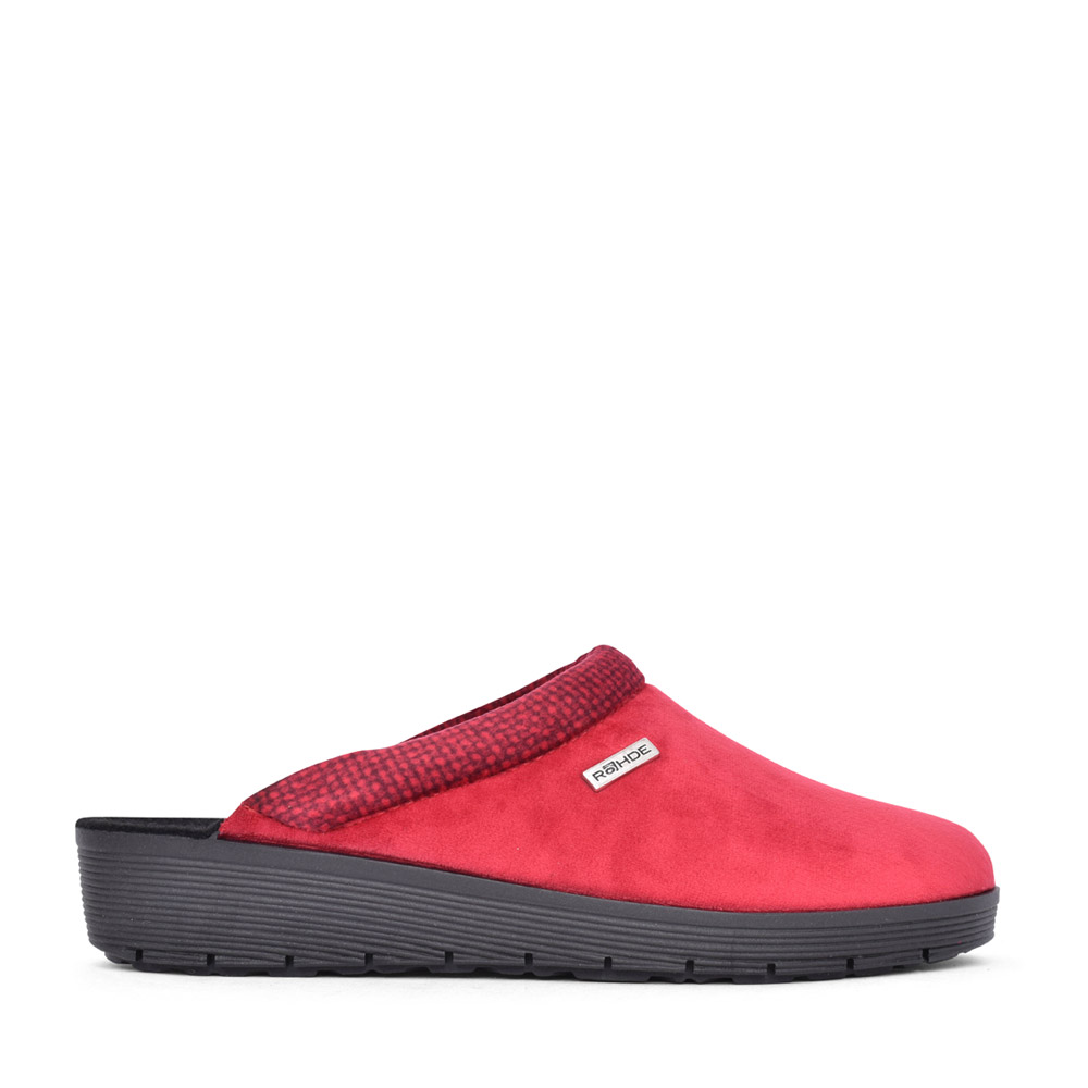 LADIES 2336 ROMA MULE SLIPPER in RED
