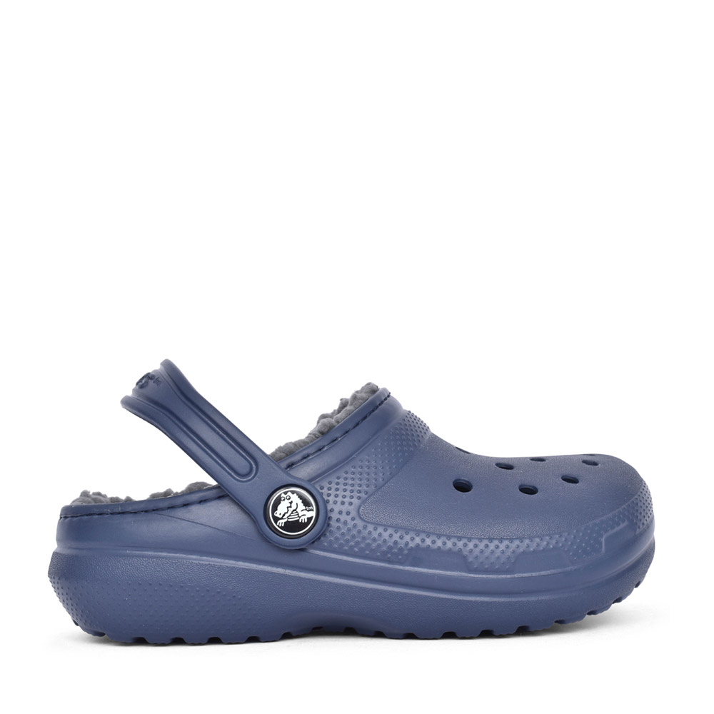 BOYS 203506 CLASSIC FUZZ-LINED CLOG in NAVY