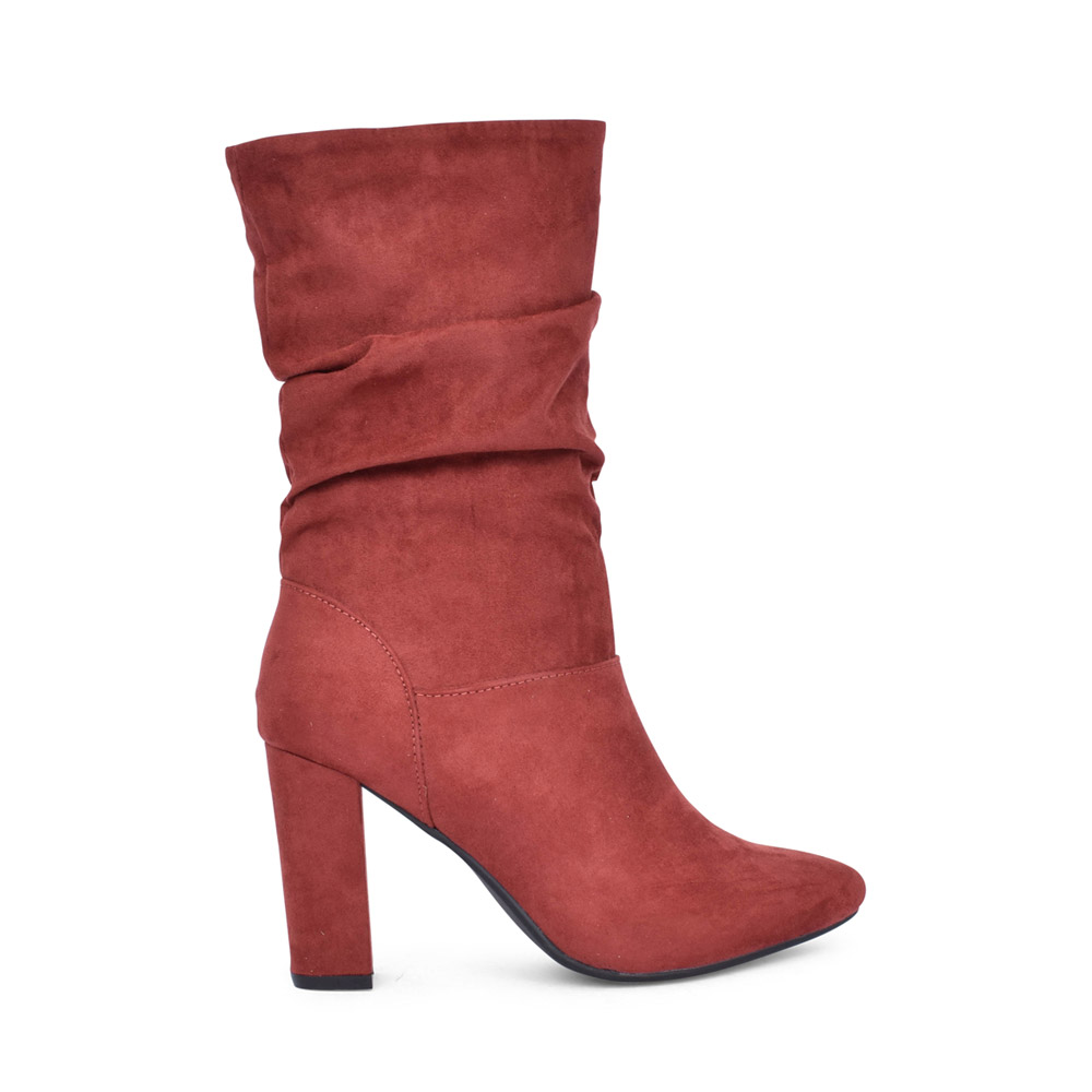 LADIES 476813 CALF BOOT in RED