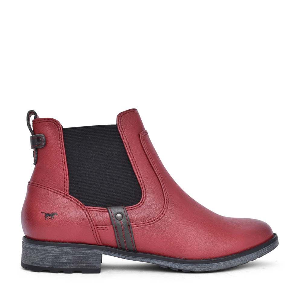 LADIES 1265522 ANKLE BOOT in RED